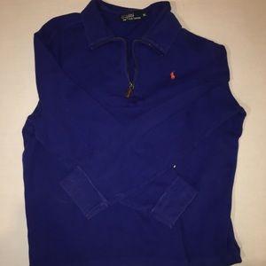 Polo Ralph Lauren Blue Men 1/4 Zip Jacket Size XL